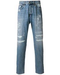 Eleventy - Slim Distressed Jeans - Lyst