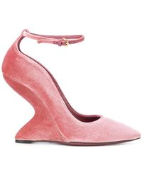 Ferragamo - Sculpted-heel Pumps - Lyst