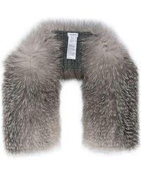 Inverni - Knitted Cashmere Fox Fur Scarf - Lyst