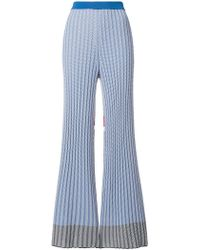 Mrz - Intarsia Knit Flared Trousers - Lyst