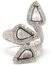 Saqqara - 'trinity' Diamond Ring - Lyst
