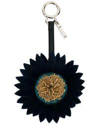 Fendi Porte-clés Daisy - Bleu