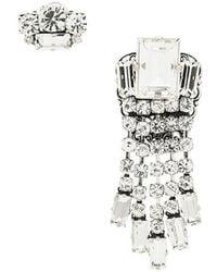 Rada' - Embellished Asymmetric Earrings - Lyst