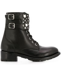 Karl Lagerfeld - Logo Studded Ankle Boots - Lyst