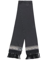 Dolce & Gabbana - Fringed Printed Scarf - Lyst