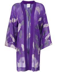 Forte Forte - Leaf Print Kimono - Lyst
