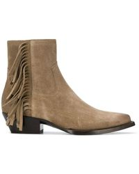 Saint Laurent - Lukas Fringed Boots - Lyst