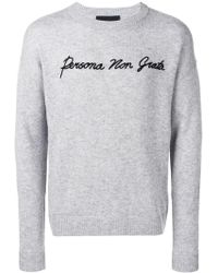 John Richmond - Persona Embroidered Sweater - Lyst