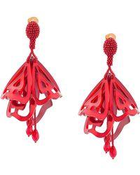 Oscar de la Renta - Impatiens Large Clip-on Earrings - Lyst