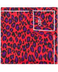 KENZO - Leopard Print Scarf - Lyst