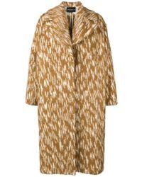 Erika Cavallini Semi Couture - Patterned Oversized Coat - Lyst