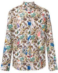Etro - Mixed Floral Print Shirt - Lyst