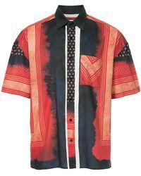 Yoshiokubo - Shibori Print Short Sleeve Shirt - Lyst