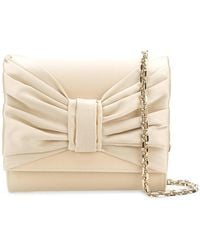 Casadei - Draped Bow Clutch - Lyst