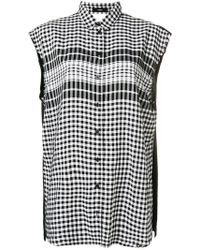 DIESEL - Checked Sleeveless Shirt - Lyst