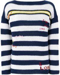 Ermanno Scervino - Cashmere Striped Sweater - Lyst