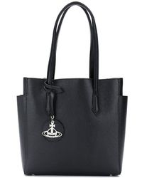 6fcef9423ee1 Vivienne Westwood Anglomania - Logo Charm Tote - Lyst