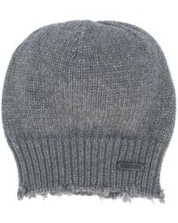 DSquared² - Distressed Knit Beanie - Lyst