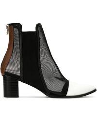 Gloria Coelho - Mesh Panels Boots - Lyst