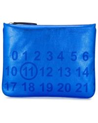 8f50c4c8ca81 Кошелек С Металлическим Логотипом Prada, цвет: Синий - Lyst