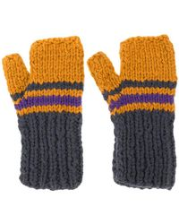 Maison Margiela - Striped Fingerless Gloves - Lyst