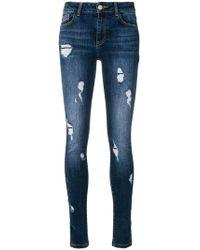 Frankie Morello - Denise Distressed Skinny Jeans - Lyst