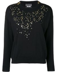 Boutique Moschino - Star Studded Sweater - Lyst