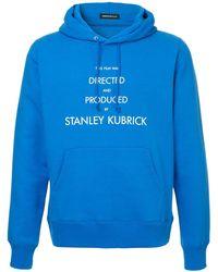 Undercover Slogan Hooded Sweatshirt - Blue