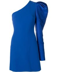 David Koma - One Shoulder Gigot Dress - Lyst