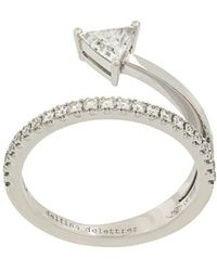 Delfina Delettrez - 18kt White Gold Marry Me Ring - Lyst