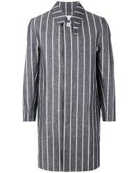 Mackintosh - Striped Button Coat - Lyst