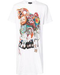 Comme des Garçons - Longline Graphic Print T-shirt - Lyst