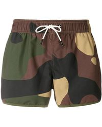 G-Star RAW - Camouflage Print Swimming Trunks - Lyst