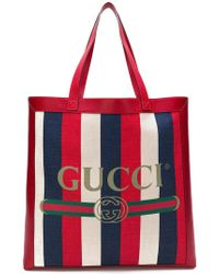 Gucci - Printed Tote - Lyst