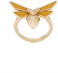 Stephen Webster - 18kt Yellow Gold Winged Bug Diamond Ring - Lyst