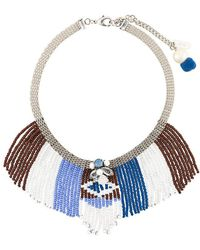 Rada' - Beaded Fringes Short Necklace - Lyst