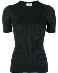 Courreges - Rib Knit Fitted Top - Lyst