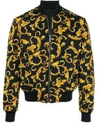 Versace - Printed Bomber Jacket - Lyst
