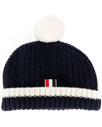 Thom Browne | Ribbed Bobble Hat | Lyst