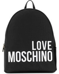 Love Moschino - Embroidered Logo Backpack - Lyst