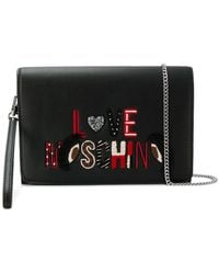 Love Moschino - Embroidered Logo Clutch - Lyst