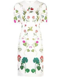 Oscar de la Renta - Robe longue Botanical - Lyst