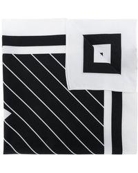 Dolce & Gabbana - Logo Striped Square Scarf - Lyst