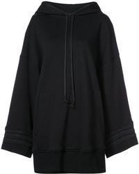 Vera Wang - Cording Detail Oversized Sweatshirt - Lyst
