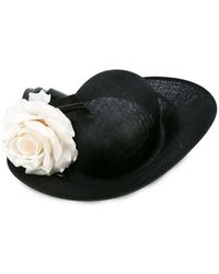 Lyst - Philip Treacy Velour Feather-spray Side-sweep Hat in Black 5f622b6386d1