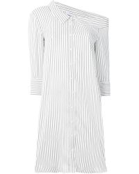 Dondup - Striped Asymmetric Shirt Dress - Lyst