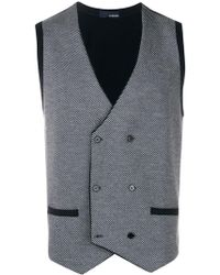 Lardini - Double-breasted Fitted Waistcoat - Lyst