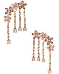Oscar de la Renta - Multi-floral Drop Earring - Lyst