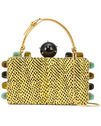 Tonya Hawkes - Embellished Top Handle Clutch - Lyst