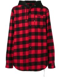Mastermind Japan - Hooded Check Shirt - Lyst